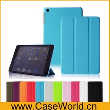 new product Leather Slim Smart Case Cover for ipad mini 2 cover