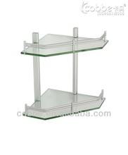 Aluminum 71676 Double layer glass shelf