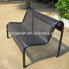Weather resistant perforated steel garden bench with metal bench brackets