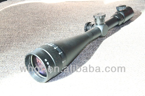 8-32x60AOE Riflescope with front parallax adjustment objective and red&green illuminated mil-dot reticle