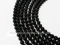 Onice nero perline collana filo, pietre semipreziose per marca di gioielli in argento gioielli