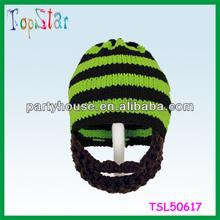 Funny Novelty Cheap Beard Hat Handmade Knitting Pattern