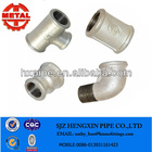 Galvanized Malleable Iron Pipe Fittings Crossover 85