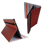 2013 hot selling leather notebook case for ipad 2 ,new design for iPad 5 Case, Leather case for ipad 5 with High quality