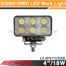 "4"" 18W Off Road LED Work Light led bar connector"