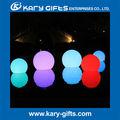 control remoto led de iluminación de la decoración de navidad bola de colores que cambian de bola