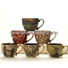 handpainted japanese stoneware mug