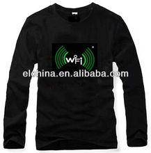 2013 custom design led t-shirt, el t shirt, music led t-shirt Online Shopping