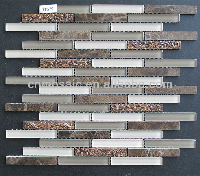 Mosaics Tile Lowes Crystal Glass Mosaic Tile