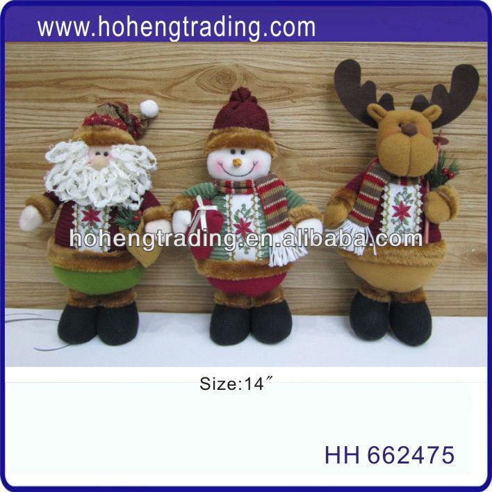 christmas standing decoration animated plush