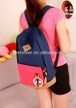 Wholesale canvas solar laptop backpack casual
