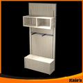 Estante de madera/pisos de madera estante de exhibición/de montaje en pared de madera estante de la capa