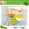 Freezer safe flexible silicone stretch seal lid for bowl,pan or any container