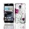 case for LG Optimus F6 cell phone, elegant flower phone case for LG D500