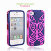 crystal butterfly cellphone cases for Iphone 5C/5S.