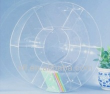 New/arrival Acrylic round CD display rack, CD storage box