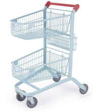 Hand push double baskets shopping cart(RHB-JP008)