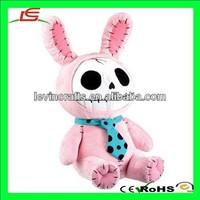 LE h1791 Nemesis Now Pink Bunny/rabbit Plush Skeleton Gothic Rabbit Teddy