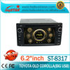 Special discount!!! 2 din car stereo with gps for Old TOYOTA Corolla/Vios/Camry/Celica/Rav4/Hilux/4 runner,LSQ Star!