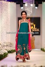 Glamorous Tarqouise Blue Designer Evening Dress