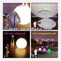 ball shape led PE decoration light rechargeable/ AC Connection