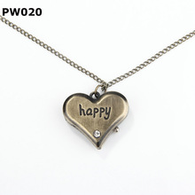 latest fashion looks mechanical pocket watch with happy heart pendant