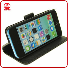 Luxury Fashion High Quality Stand PU Leather Case For iPhone 5C