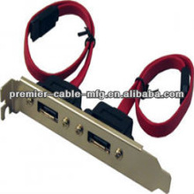 2-Port e-SATA Standard Bracket Standard PCI Bracket setup SATA external devices with this e-SATA extension standard bracket