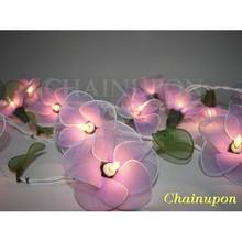 Purple Flowers String Lights