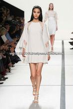 Custom made short silk dress with Elie Saab designs for 2013-2014 spring summer