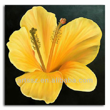 yellow flower oil painting home hotel wall decor art picture