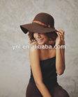Felt Floppy Hat - Chocolate - fall& winter boho style,Aztec fabric belt, HAT-F-13002