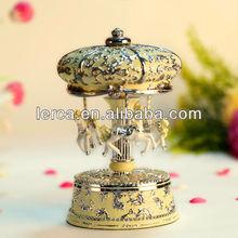 3-horse beautiful carousel music box,hand crank paper music box