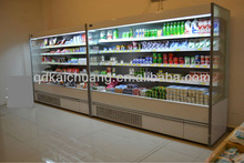Supermarket Refrigerated Chiller with Air Curtain for Display of Fruits and Vegetables