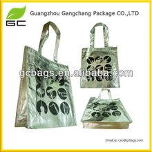 Full color silver laminated non-woven tote bag