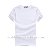 Cheap promotional adversiting plain blank white polyester t-shirt,china clothing factory