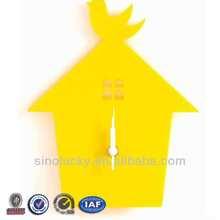 Yellow Bird House Wall Hanging Clock