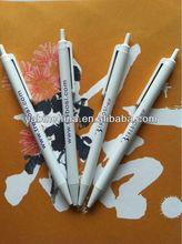New Promotional Plastic White Ballpoint Pen