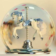 3-horse beautiful carousel music box,musical classics music box
