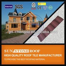 Shingle Asphalt Sheet Roof Tile Roofing / Stone Chip Coating Roof