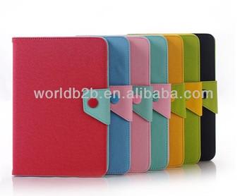 Korea design Multicolor PU Leather Case Cover for ipad mini 2