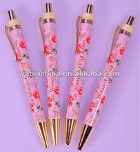 New Promotional Plastic Flower Ballpoint Pen