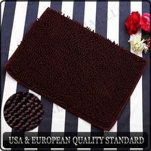 Nonslip Microfiber Long Chenille Floor Mat Bedroom Area Rug Carpet 40cm*60cm/50cm*80cm, Pet Rug, 5 Colors Available, Brown