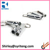 outdoor survival long small metal train keychain whistle