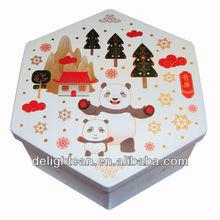 Lovely Hexagonal Metal Tin Box Gift(DL-IT-0118)