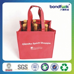 Good Quality red jute wine tote bag for single bot