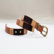 fashion metal eyelets mens sprakly belts cloth belts