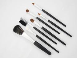 mini 7 piece black/silver make up brush set