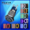 Wenzhou FILN 19mm 12v led metal momentary metal stainless steel momentary led push button switch