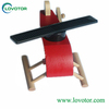 Mini light small Solar power toy wooden helicopter science educational china children gift toy